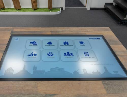 Rheingauer Volksbank – inaktives Touch-Terminal