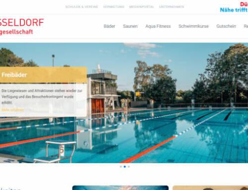 Bäder Düsseldorf: Relaunch der Webseite