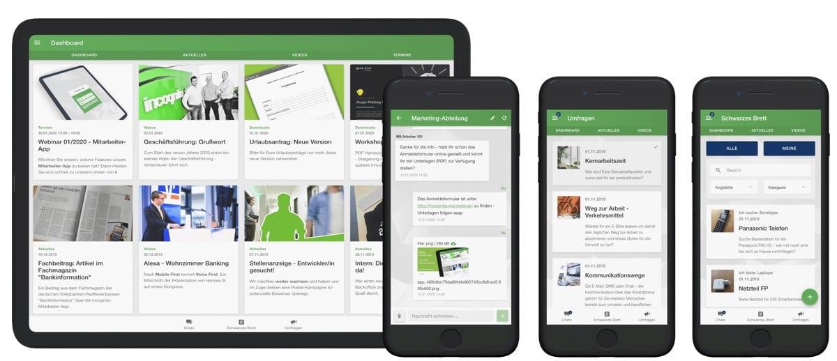 incognito digitale lösungen - Mitarbeiter-App Vorschau Mobil