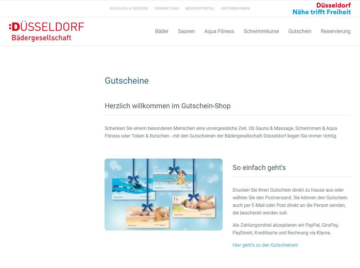 Bäder Düsseldorf - Gutscheine