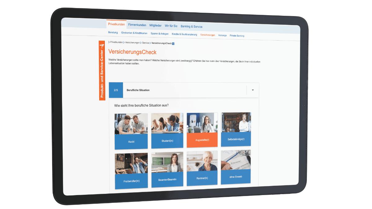 incognito digitale lösungen - VersicherungsCheck Berufliche Situation