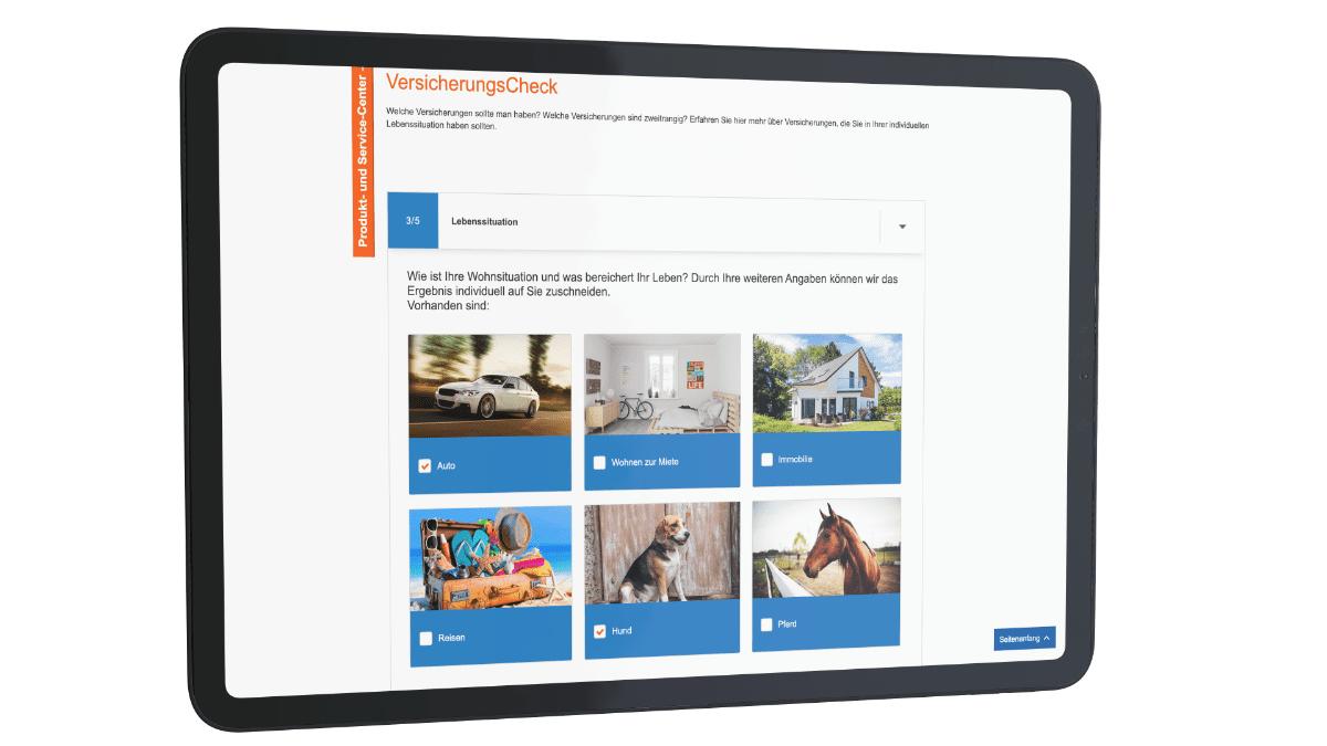 incognito digitale lösungen - VersicherungsCheck Lebensstation