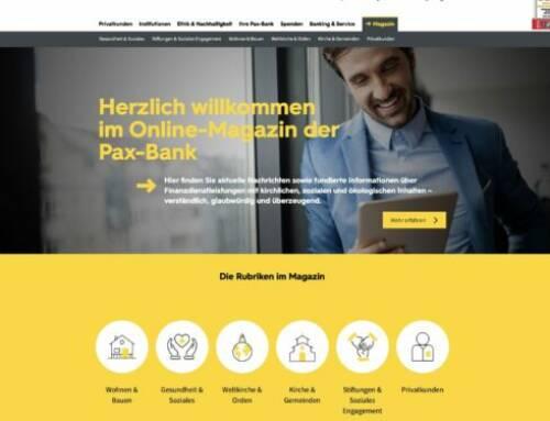 Pax-Bank: Online Magazin